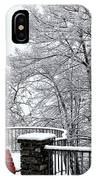 Bench With Snow IPhone Case