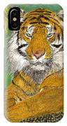 Bengal Tiger With Green Eyes IPhone Case