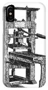 Benjamin Franklins Printing Press IPhone Case