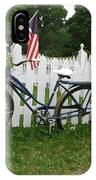 Bicycle And Picket Fence IPhone Case