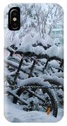 Bicycles In The Snow IPhone Case