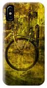 Bicyclist On The Move No. Ol4 IPhone Case
