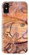 Big Mouth Bass Carving IPhone Case