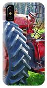 Big Red Rubber Tire Tractor IPhone Case