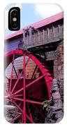 Big Red Wheel IPhone Case