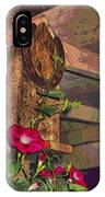 Birdhouse Morning Glories Two IPhone Case