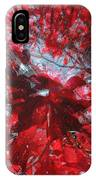 Black And Red Crescendo IPhone Case