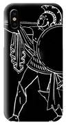 Black And White Ancient Greek Warrior IPhone Case