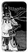 Black And White Chinese Warrior IPhone Case