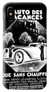 Black And White French Car IPhone Case