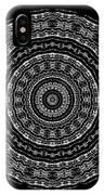 Black And White Mandala No. 3 IPhone Case