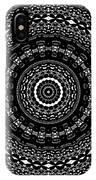 Black And White Mandala No. 4 IPhone Case