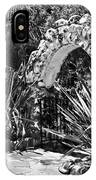 Black And White Mexican Patio With Stone Arbor San Diego California Usa IPhone Case