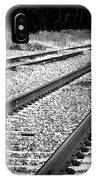Black And White Railroad Tracks IPhone Case