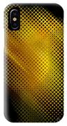 Black And Yellow Abstract II IPhone Case