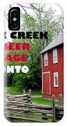 Black Creek Poster IPhone Case