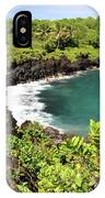 Black Sand Beach Maui IPhone Case