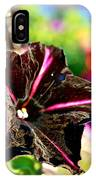 Black Spider Petunia IPhone Case