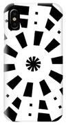 Black Spirale IPhone Case