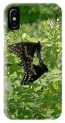 Black Swallowtails Mating IPhone Case