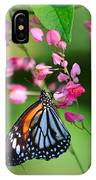 Black Veined Tiger Butterfly IPhone Case