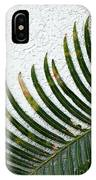 Bladed Leaf Against Stucco Wall IPhone Case