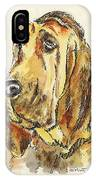 Bloodhound-watercolor IPhone Case