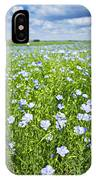 Blooming Flax Field IPhone Case