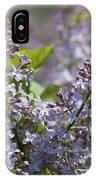 Blossoming Hyacinthiflora Lilacs IPhone Case