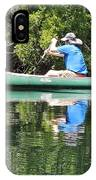 Blue Amongst The Greens - Canoeing On The St. Marks IPhone Case