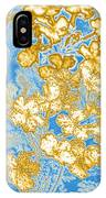 Blue And Gold Floral Abstract IPhone Case