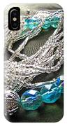 Blue And Silver Bead Bracelet IPhone Case
