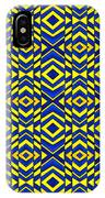 Blue And Yellow Chevron Pattern IPhone Case