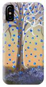 Blue-blossomed Wishing Tree IPhone Case
