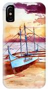 Blue Boat On The Shore IPhone Case