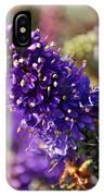 Blue Brush Bloom IPhone Case