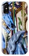 Blue Carousel Merry Go Round Horses IPhone Case