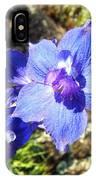 Blue Delphinium Flower Photograph IPhone Case