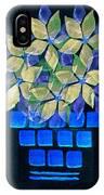 Blue Flower Pot IPhone Case