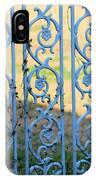 Blue Gate Swirls IPhone Case