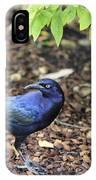 Blue Grackle IPhone Case