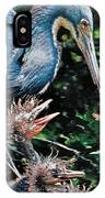 Blue Heron Family IPhone Case