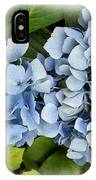 Blue Hydrangeas With Watercolor Effect IPhone Case