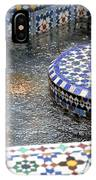 Blue Mosaic Fountain I IPhone Case