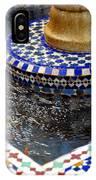 Blue Mosaic Fountain II IPhone Case