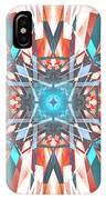 Blue Orange Kaleidoscope IPhone Case