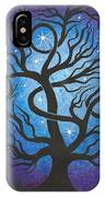 Blue Twisted Tree IPhone Case