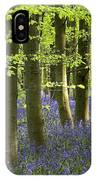 Bluebells In The Woods IPhone Case