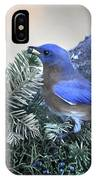 Bluebird Christmas Wreath IPhone Case