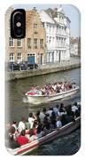 Boat Tours In Brugge Belgium IPhone Case